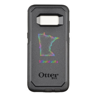 Rainbow Minnesota map OtterBox Commuter Samsung Galaxy S8 Case