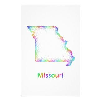 Rainbow Missouri map Customized Stationery