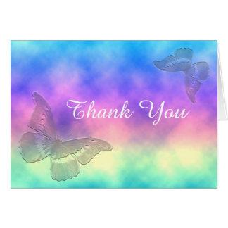 [Rainbow Mist] Butterflies [Blank Inside] ThankYou Card