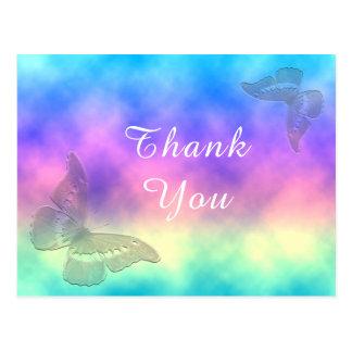 [Rainbow Mist] Colourful Butterflies Thank You Postcard