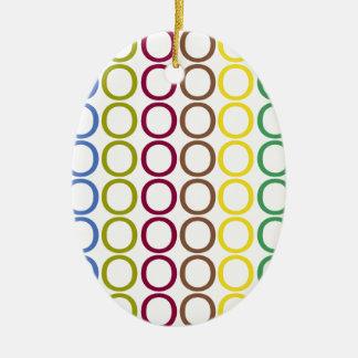 Rainbow Mixed Splash of O's Christmas Ornament