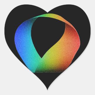 Rainbow Mobius Strip Heart Sticker