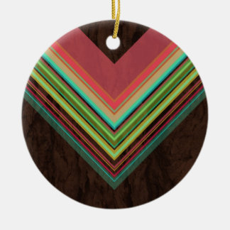Rainbow- Modern and Trendy geometric pattern Christmas Ornament