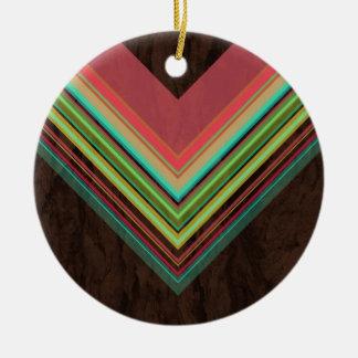Rainbow- Modern and Trendy geometric pattern Round Ceramic Decoration