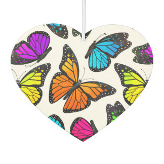Rainbow Monarch Butterfly Pattern Car Air Freshener
