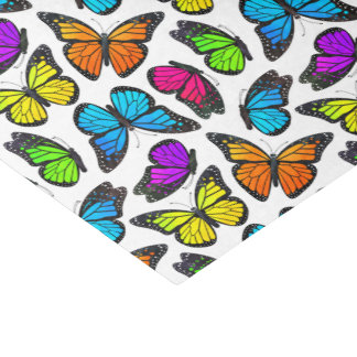 Rainbow Monarch Butterfly Pattern Tissue Paper
