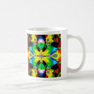 rainbow monarch coffee mug