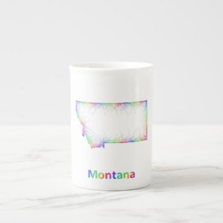 Rainbow Montana map Bone China Mug