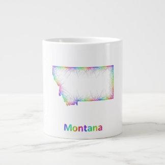 Rainbow Montana map Jumbo Mug
