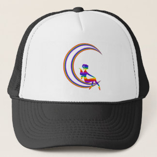 Rainbow Moon Pixie Trucker Hat