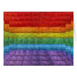 Rainbow Mosaic Gay Pride Flag Big Greeting Card