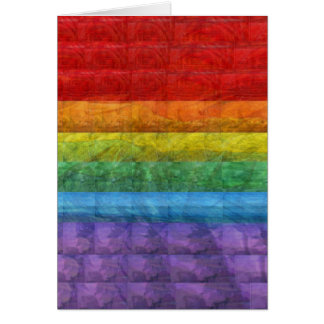 Rainbow Mosaic Gay Pride Flag Stationery Note Card