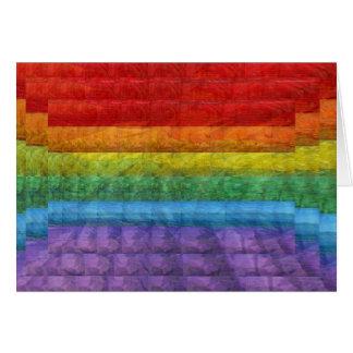 Rainbow Mosaic Gay Pride Flag Greeting Card