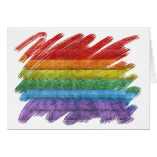 Rainbow Mosaic Gay Pride Flag (Paintbrush) Greeting Card