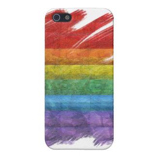 Rainbow Mosaic Gay Pride Flag (Paintbrush) iPhone 5/5S Cover