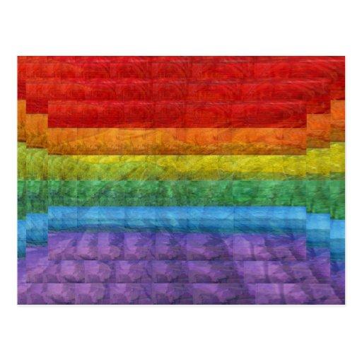 Rainbow Mosaic Gay Pride Flag Post Cards