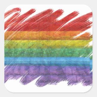 Rainbow Mosaic Gay Pride Flag Sticker