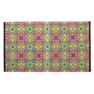 Rainbow mosaic repeat iPad folio cases