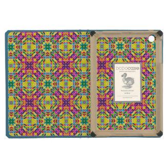 Rainbow mosaic repeat iPad mini covers
