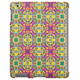 Rainbow mosaic repeat iPad case