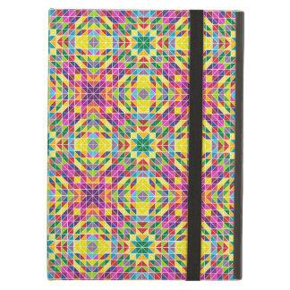 Rainbow mosaic repeat iPad air cases