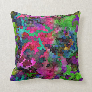 [Rainbow Mosaic] Stained-Glass Effect Throw Pillow