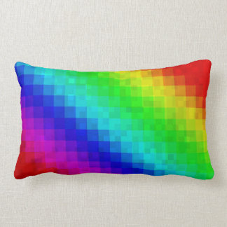 Rainbow Mosaic Tiles Pattern,  Lumber  Cushion