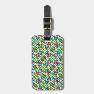 Rainbow Mosaic Tiles Stones Luggage Tag