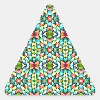 Rainbow Mosaic Tiles Stones Triangle Stickers
