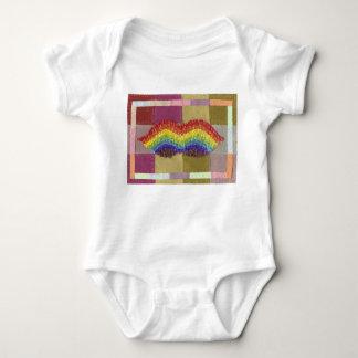 Rainbow Moustache Babygro Baby Bodysuit