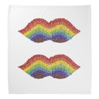 Rainbow Moustache Bandana