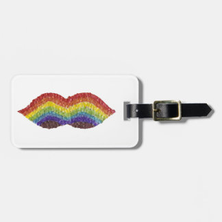 Rainbow Moustache Luggage Tag