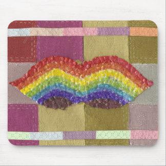 Rainbow Moustache Mousepad