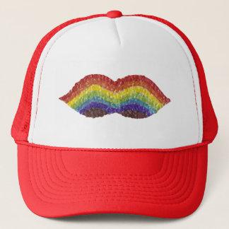 Rainbow Moustache No Background Baseball Cap