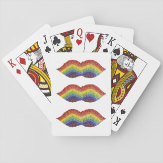 Rainbow Moustache Playing Cards