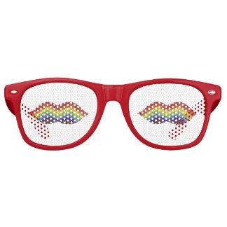 Rainbow Moustache Sunglasses