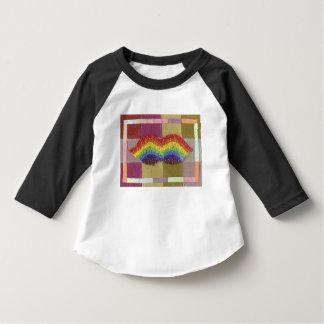 Rainbow Moustache Toddler Three Quarter Length Top