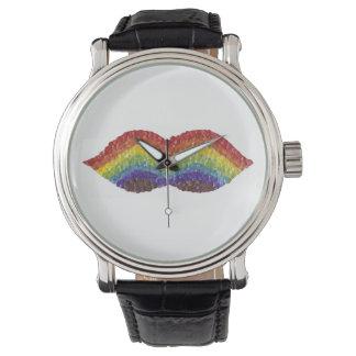 Rainbow Moustache Watch