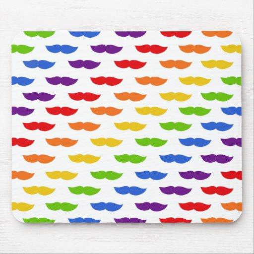 Rainbow Moustaches Mousepad