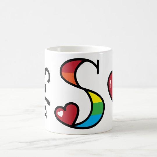 Rainbow Mug Rainbow Monogram S Mug