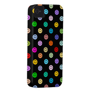 Rainbow Multicolor Smiley Face Pattern iPhone 4 Case-Mate Cases
