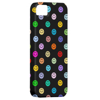 Rainbow Multicolor Smiley Face Pattern iPhone 5 Case