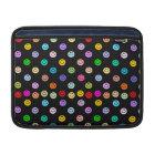 Rainbow Multicolor Smiley Face Pattern MacBook Sleeve