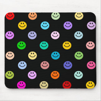 Rainbow Multicolor Smiley Face Pattern Mouse Pads