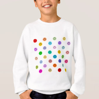 Rainbow Multicolor Smiley Face Pattern Sweatshirt