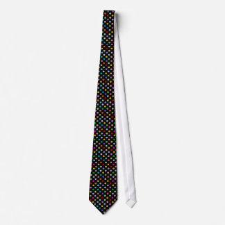 Rainbow Multicolor Smiley Face Pattern Tie