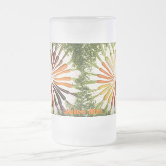 Rainbow Multicolored Carrots Frosted Glass Mug
