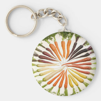 Rainbow Multicolored Carrots Key Ring