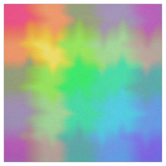 Rainbow Multicolored Watercolor Abstract Tie Dye Fabric
