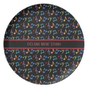 Musical Notes Plates Zazzle Uk